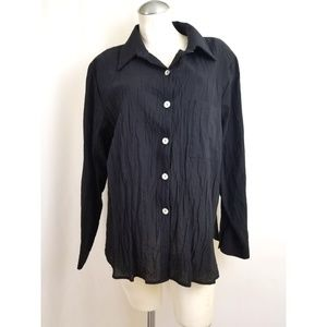 Susan Graver Size XL Button Down Shirt Top